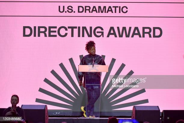 Dee Rees speaks onstage during the 2020 Sundance Film Festival Awards Night Ceremony at Basin Recreation Field House on February 01 2020 in Park City...