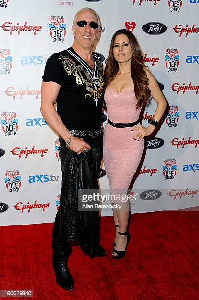 Dee Snider and actress Kerri Kasem arrive at the Revolver/Guitar World Rock Roll roast of Dee Snider at City National Grove of Anaheim on January 24...