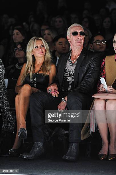 Dee Snider and wife Suzette Snider attend Day 2 of World MasterCard Fashion Week Spring 2016 Collections at David Pecaut Square on October 20 2015 in...