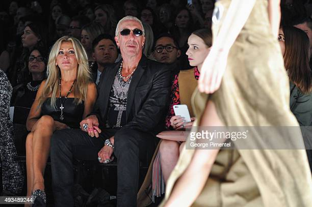 Dee Snider and wife Suzette Snider attend the MercedesBenz Start Up at World MasterCard Fashion Week Spring 2016 at David Pecaut Square on October...