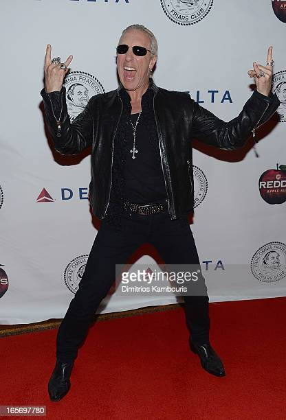Dee Snider attends The Friars Club Roast Honors Jack Black at New York Hilton and Towers on April 5 2013 in New York City