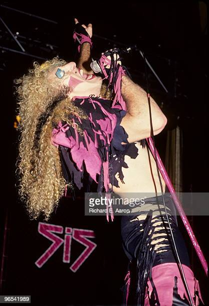 Dee Snider from Twisted Sister performs live on stage in Los Angeles in 1984