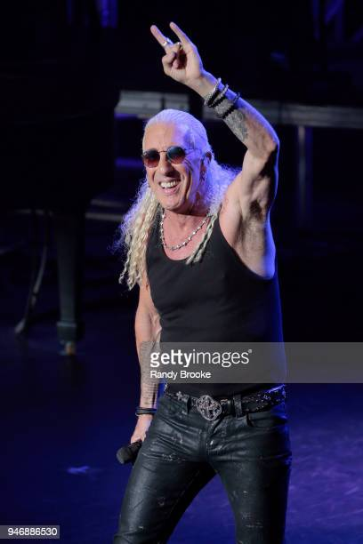 Dee Snider greets the audience during Rocktopia on Broadway at Broadway Theatre on April 15 2018 in New York City