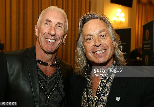 Dee Snider of the band Twsited Sister and singersongwriter Jim Lauderdale pose for a photo during GRAMMYs on The Hill Advocacy Day on Capitol Hill on...
