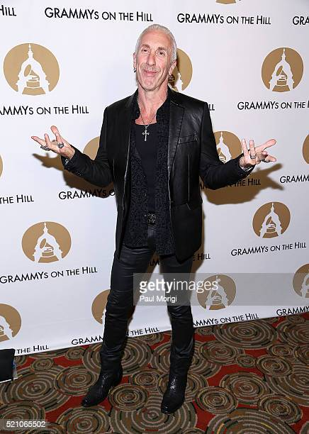 Dee Snider of the band Twsited Sister arrives at the GRAMMYs on The Hill Dinner at The Hamilton on April 13 2016 in Washington DC