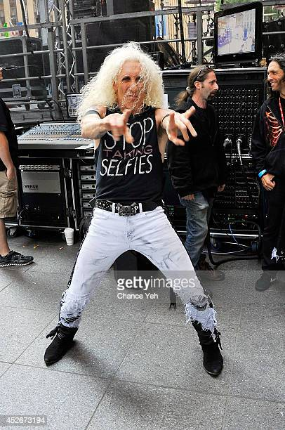 Dee Snider of Twisted Sister attends Twisted Sister performance during FOX Friends All American Concert Series outside of FOX Studios on July 25 2014...