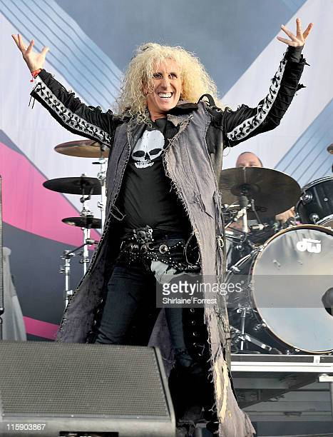 Dee Snider of Twisted Sister performs on day two of the Download Festival at Donington Park on June 11 2011 in Castle Donington England