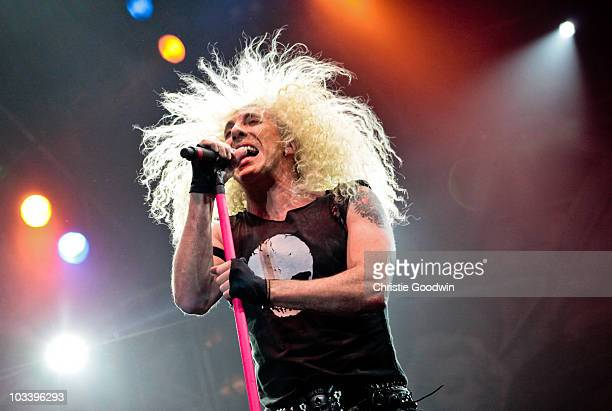 Dee Snider of Twisted Sister performs on stage on Day 3 of Bloodstock Open Air Metal Festival at Catton Hall on August 15 2010 in Derby England