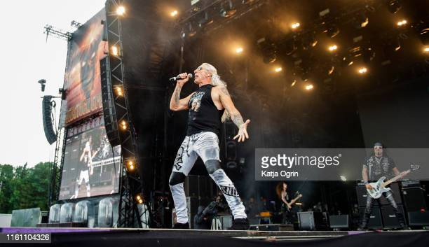 Dee Snider performs on stage during Bloodstock Festival 2019 at Catton Hall on August 11 2019 in Burton Upon Trent England