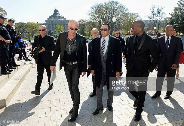 Dee Snider Smokey Robinson and Tyrese Gibson attend meetings during GRAMMYs on the Hill Advocacy Day on Capitol Hill on April 14 2016 in Washington...