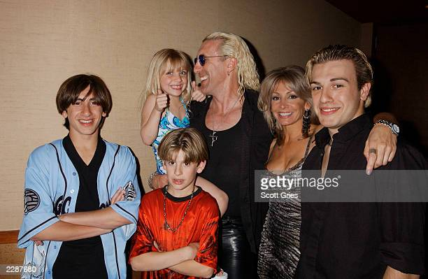 Dee Snider with his family sons Shane an Cody daughter Cheyenne wife Suzette and son Jesse Blaze at a special screening of Warning Parental Advisory...