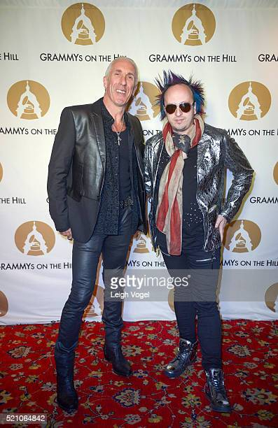 Dee Snyder and Damon Ranger attend the 2016 GRAMMYs on the Hill dinner at The Hamilton on April 13 2016 in Washington DC