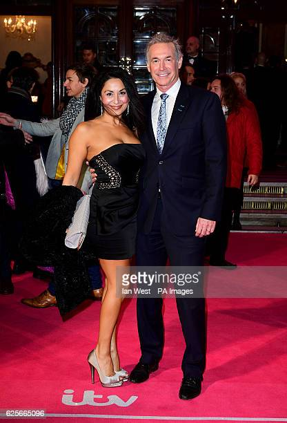 Dee Thresher and Dr Hilary Jones attending the ITV Gala at the London Palladium PRESS ASSOCIATION Photo Picture date Thursday November 24 2016 See PA...