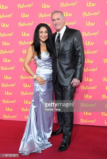 Dee Thresher and Dr Hilary Jones attends the ITV Palooza 2019 at The Royal Festival Hall on November 12 2019 in London England
