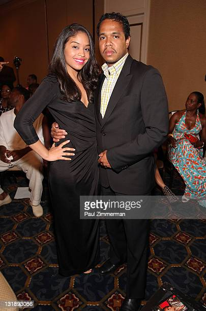 Dee Vasquez and Johnny Nunez attend the 2nd annual Blackout Awards at the Newark Hilton Gateway Hotel on June 12 2011 in Newark New Jersey