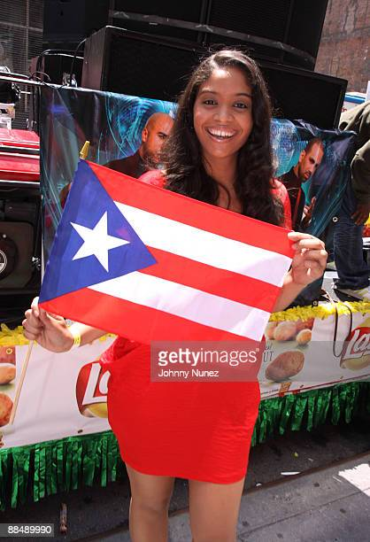 Dee Vasquez attends the 2009 Puerto Rican Day Parade on the Streets of Manhattan on June 14 2009 in New York City