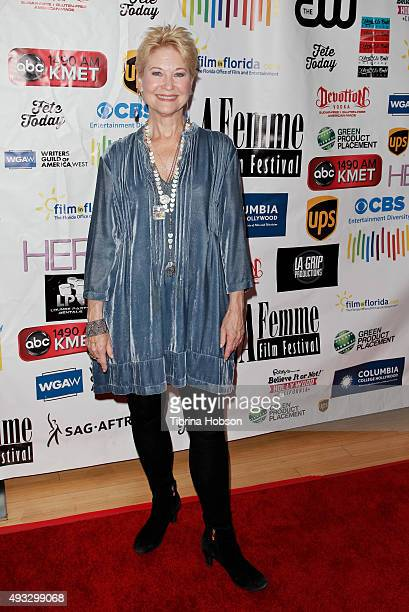 Dee Wallace attends the 11th annual LA Femme International Film Festival Awards Gala at The Los Angeles Theatre Center on October 18 2015 in Los...