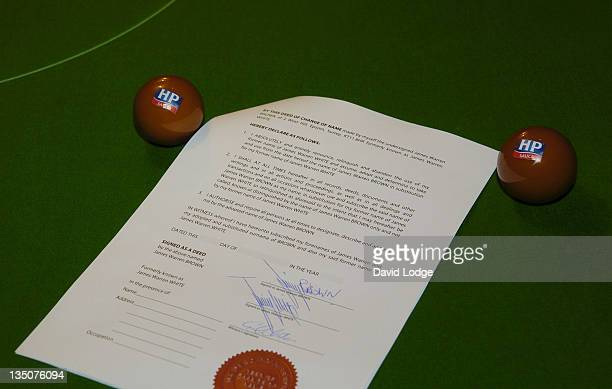 Deed forms signed by Jimmy Brown formerly known as Jimmy White