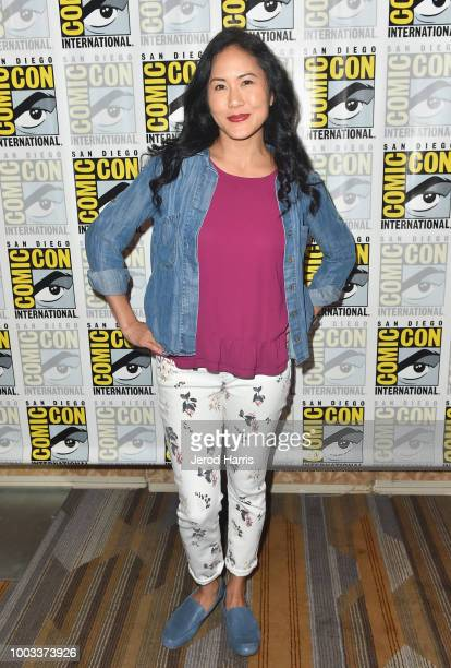 Deedee Magno Zach Callison and Michaela Dietz attend the 'Steve Universe' Press Line during ComicCon International 2018 at Hilton Bayfront on July 21...