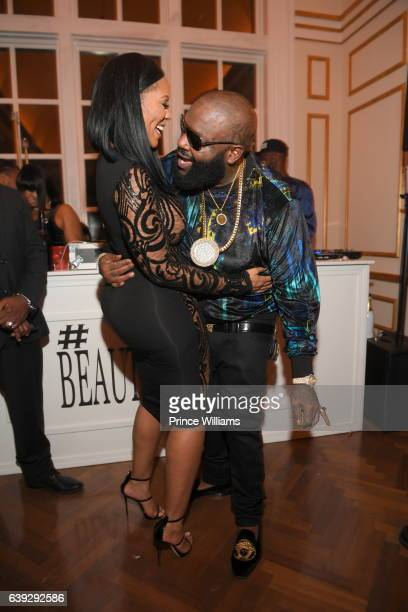 Deelishis and Rick Ross attend Maybach Music Group Presents #BEAUTYANDBELAIRE at Roberts Estate on December 12 2016 in Fayetteville Georgia
