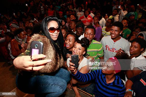 Deelishis attends the All Star Giveback Thanksgiving Edition on November 25 2014 in River Rouge Michigan
