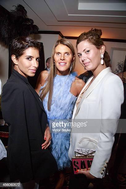 Deena Abdulaziz Anna Dello Russo and Sara Battaglia attend the Buro 24/7 Fashion Forward Initiative Presenting Natalia Alaverdian Founder and...