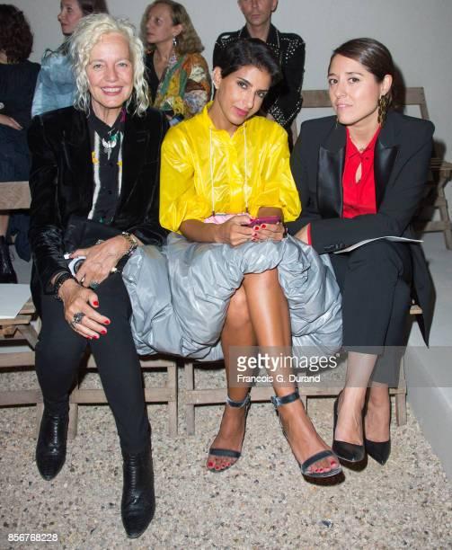 Deena Aljuhani Abdulaziz and Ellen von Unwerth attend the Alexander McQueen show as part of the Paris Fashion Week Womenswear Spring/Summer 2018 on...