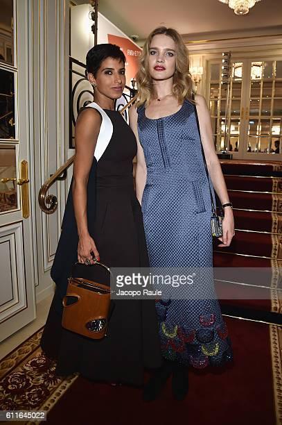 Deena Aljuhani Abdulaziz and Natalia Vodianova attend Buro 24/7 Fashion Forward Initiative as part of Paris Fashion Week Womenswear Spring/Summer...