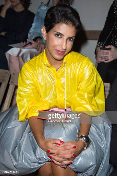 Deena Aljuhani Abdulaziz attends the Alexander McQueen show as part of the Paris Fashion Week Womenswear Spring/Summer 2018 on October 2 2017 in...