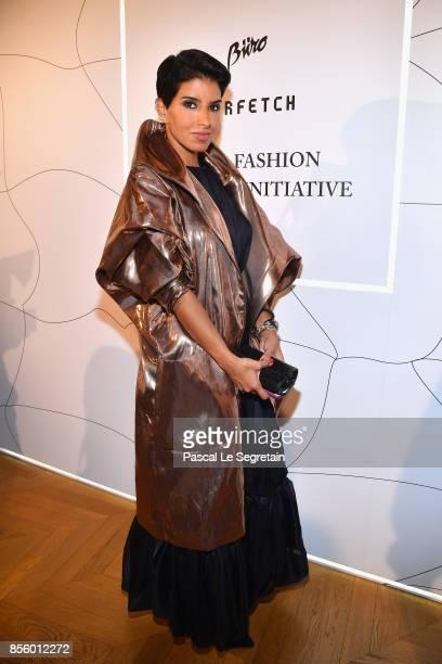 Deena Aljuhani Abdulaziz attends the Buro 24/7 X Farfetch Fashion Forward Initiative as part of the Paris Fashion Week Womenswear Spring/Summer 2018...