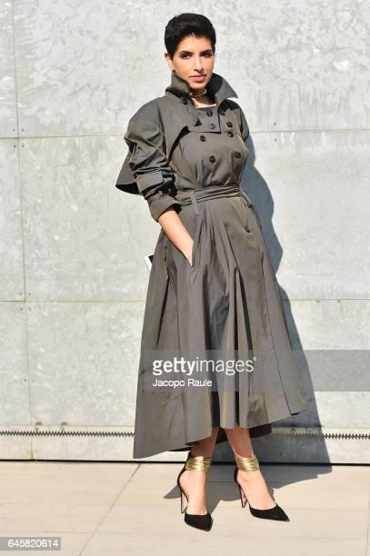 Deena Aljuhani Abdulaziz attends the Giorgio Armani show during Milan Fashion Week Fall/Winter 2017/18 on February 27 2017 in Milan Italy