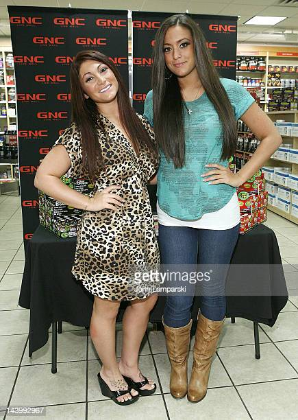Deena Cortese and Sammi Giancola visit GNC on May 7 2012 in New York City
