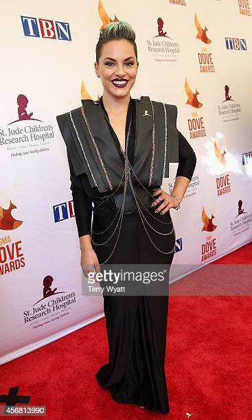 Deena Jakoub of Veridia arrives at the 45th Annual Dove Awards at Allen Arena Lipscomb University on October 7 2014 in Nashville Tennessee