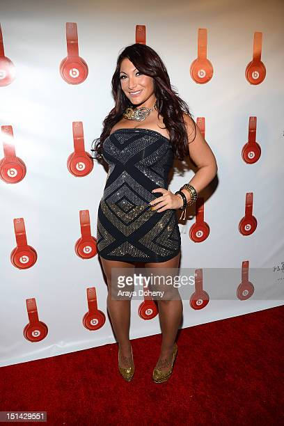 Deena Nicole Cortese arrives at the Beats By Dr Dre Lil Wayne VMA AfterParty at playhouse hollywood on September 6 2012 in Hollywood California