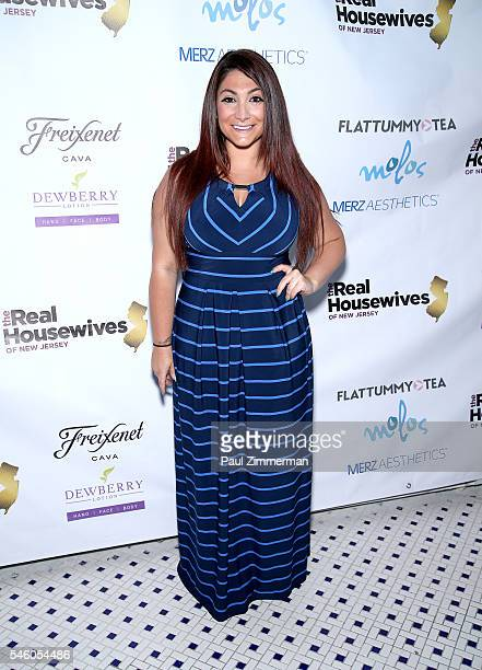 Deena Nicole Cortese attends the 'Real Housewives Of New Jersey' Season 7 Premiere Party at Molos on July 10 2016 in Weehawken New Jersey