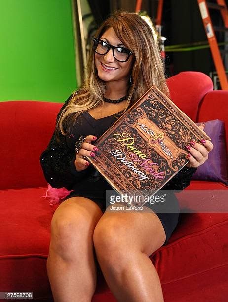 Deena Nicole Cortese records eGreetings for fans at StarGreetz on September 29 2011 in Los Angeles California
