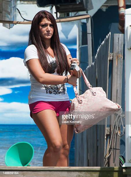 Deena Nicole Cortese seen on location for 'Jersey Shore' on June 21 2012 in Seaside Heights New Jersey