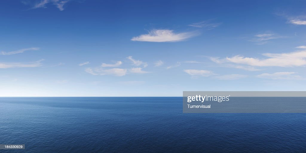 Deep Blue Ocean Panorama : Stock Photo