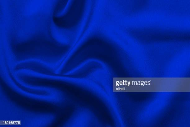 Deep blue satin