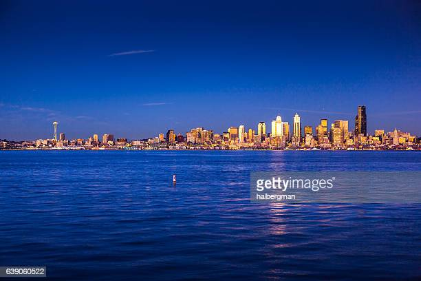 Deep Blue Sunset in Seattle