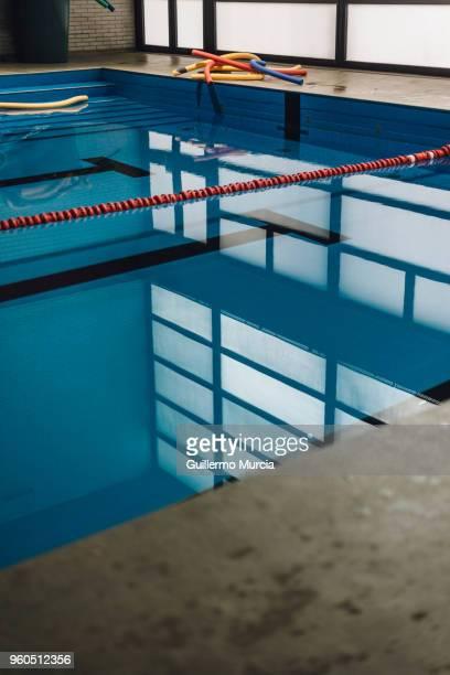 Deep Blue Swimming Pool Reflections