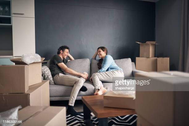 deep convos on the couch have always been their thing - home ownership stock pictures, royalty-free photos & images