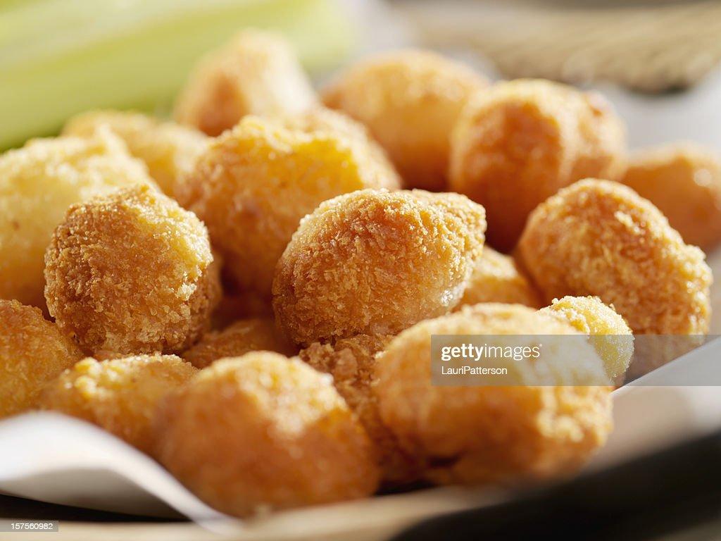 Deep Fried Cheese Balls : Stock Photo