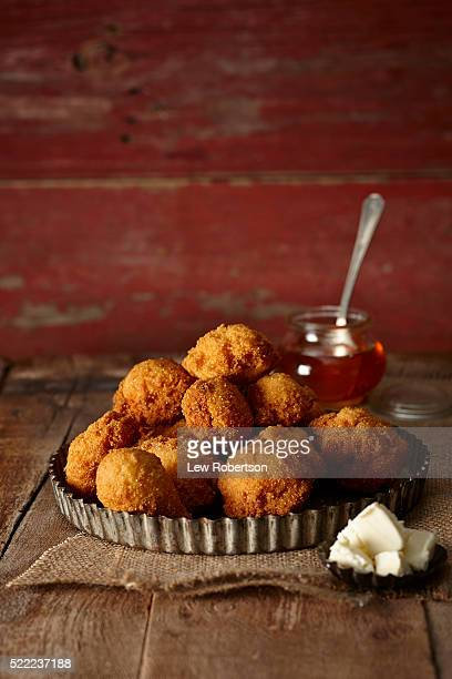 Deep fried corn balls or hush puppies