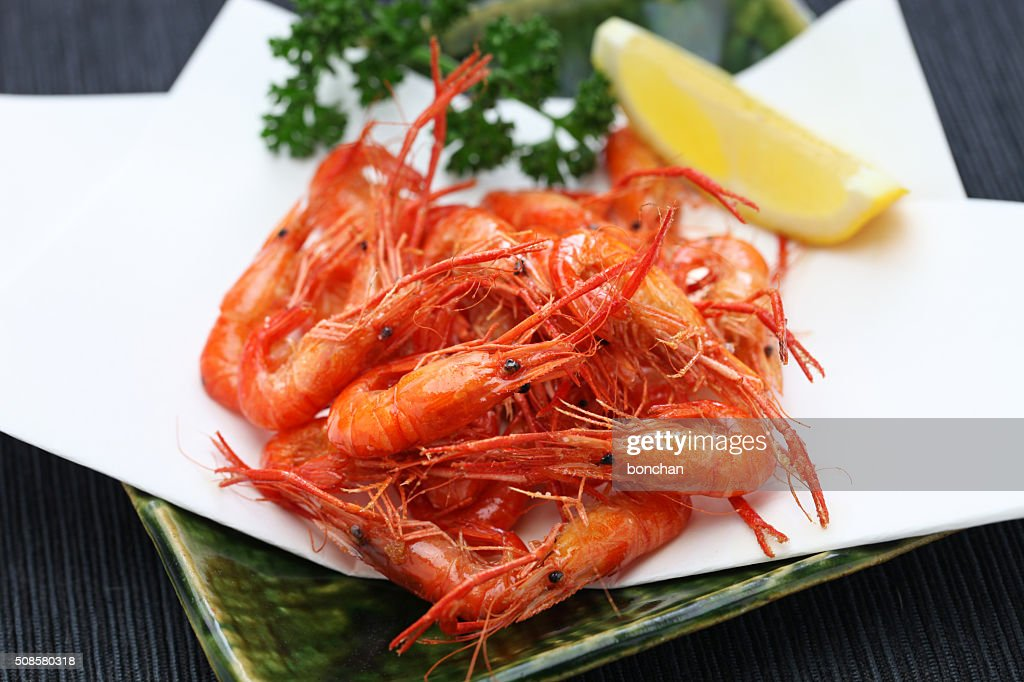 deep fried freshwater shrimp, japanese food : Stockfoto