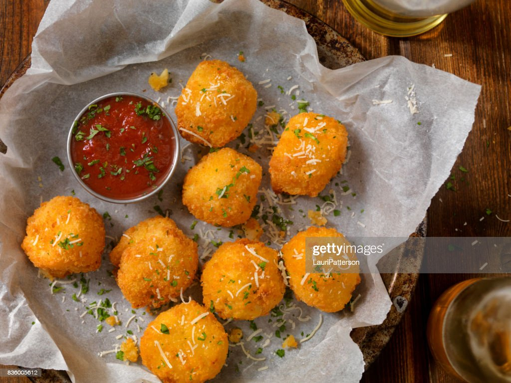 Deep Fried Macaroni and Cheese Balls : Stock Photo