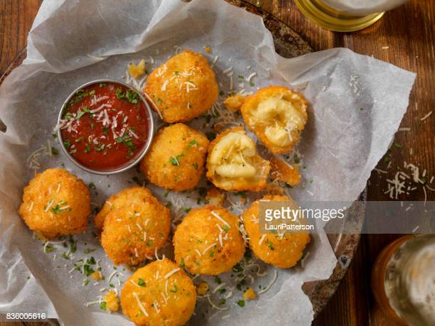 deep fried macaroni and cheese balls - fried stock pictures, royalty-free photos & images