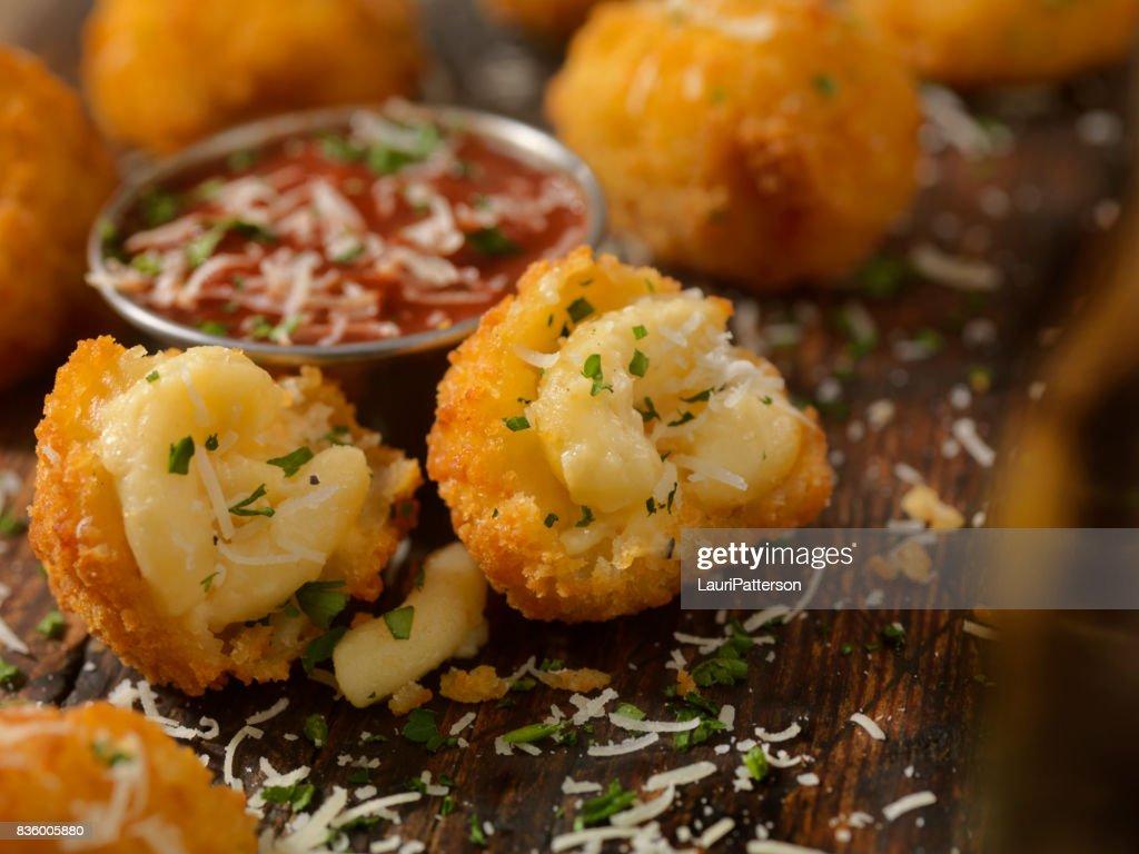 Deep Fried Macaroni and Cheese Balls : Stock Photo