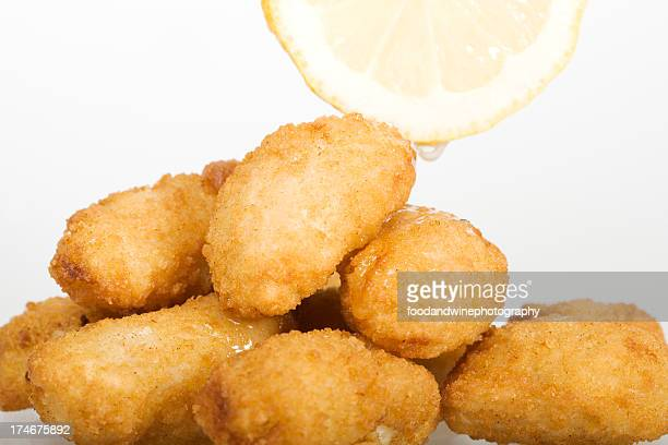 deep fried scampi - breaded stock photos and pictures