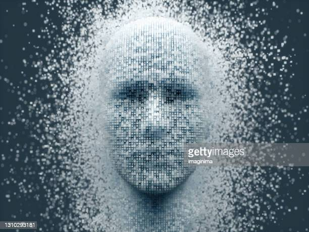 deep learning, artificial intelligence background - human face stock pictures, royalty-free photos & images